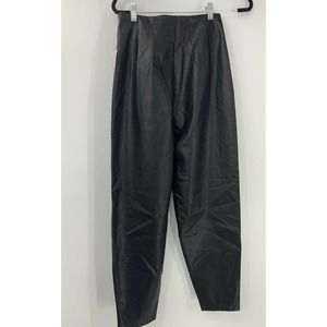 Free People High Rise Tapered Vegan Leather  Pants